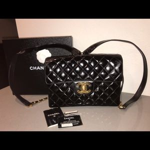 Authentic chanel classic flap backpack